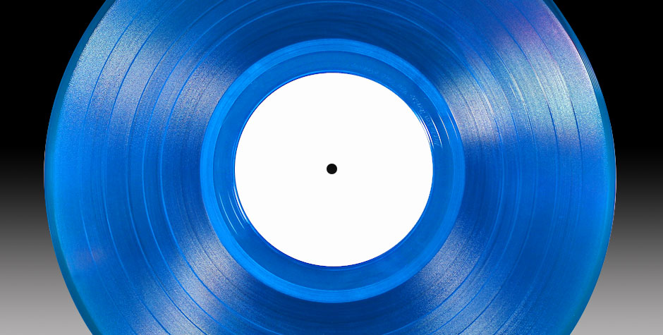 Vinyl semi-transparent blau